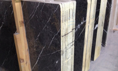 1cm Turkish Slabs - Silver Black