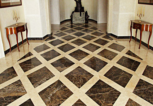 Dark Emperador Commercial Brown Marble Spain Flooring