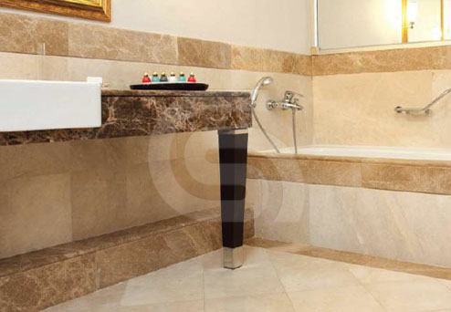 Karia Cream Marble Bath Design