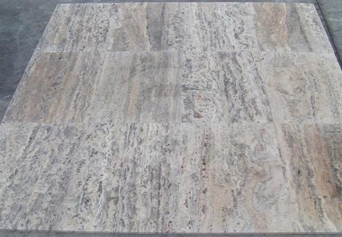 Travertine Silver Tiles Mock-Up