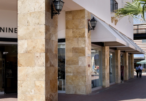 Travertine Yellow Cross-Cut Coverings