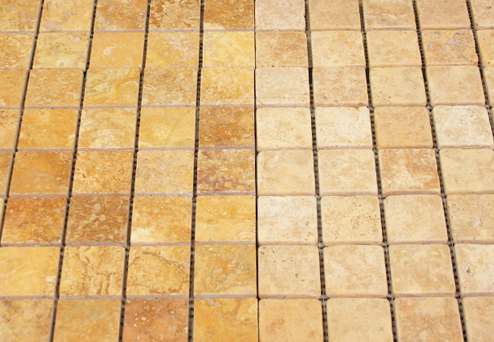 Travertine Yellow Cross-Cut Mosaics