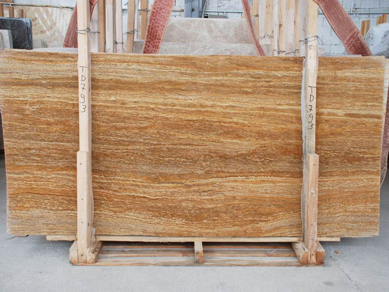 Travertine Gold slabs