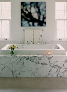 Statuario Slabs First Modern Bathroom