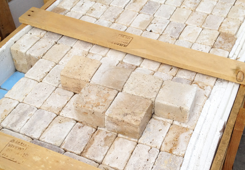 Travertine Noce Cross-Cut Cobblestones