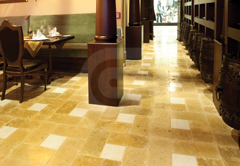 Travertine Noce Cross-Cut Flooring