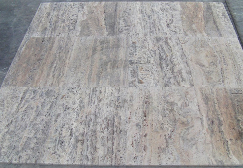 Travertine Silver Tiles Mock-Up