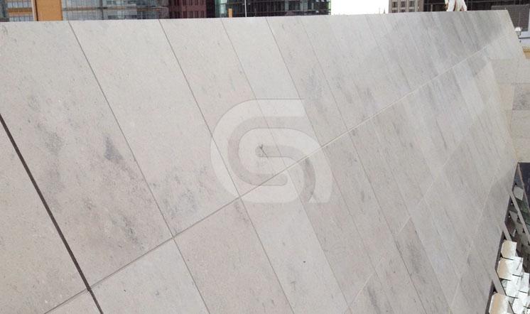 Jura Grey limestone cladding