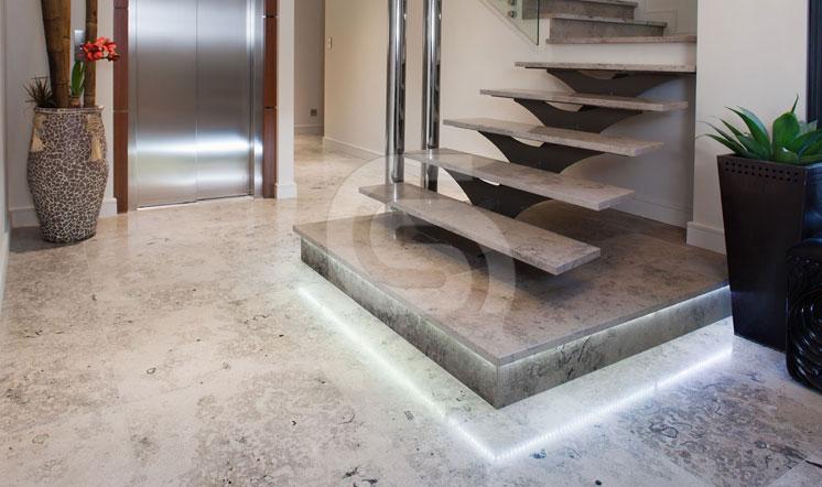 Jura Grey limestone staircases
